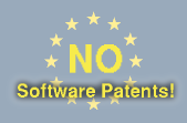 Demonstration in front of the Parliament in Strasbourg on the 5th of July against Software Patents